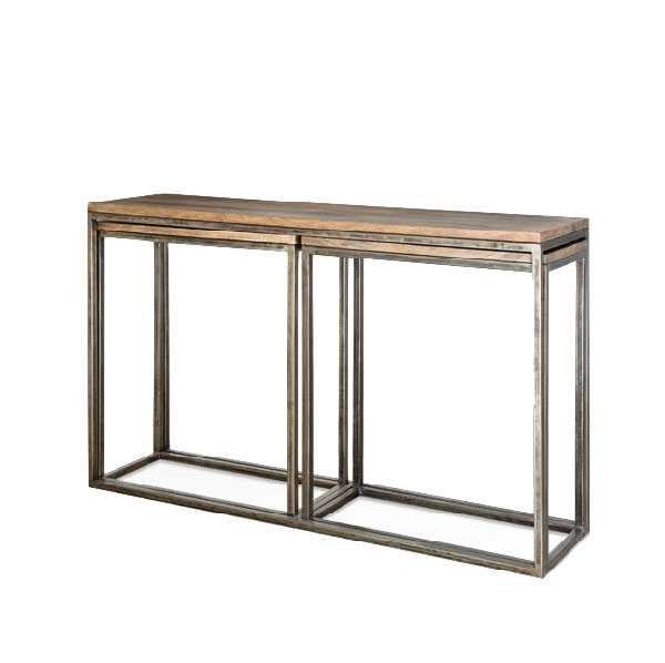 Консоль INDUSTRIAL METAL RUST TRIPLE CONSOLE TABLE